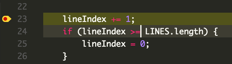 Image of VS Code line 24 to fix
