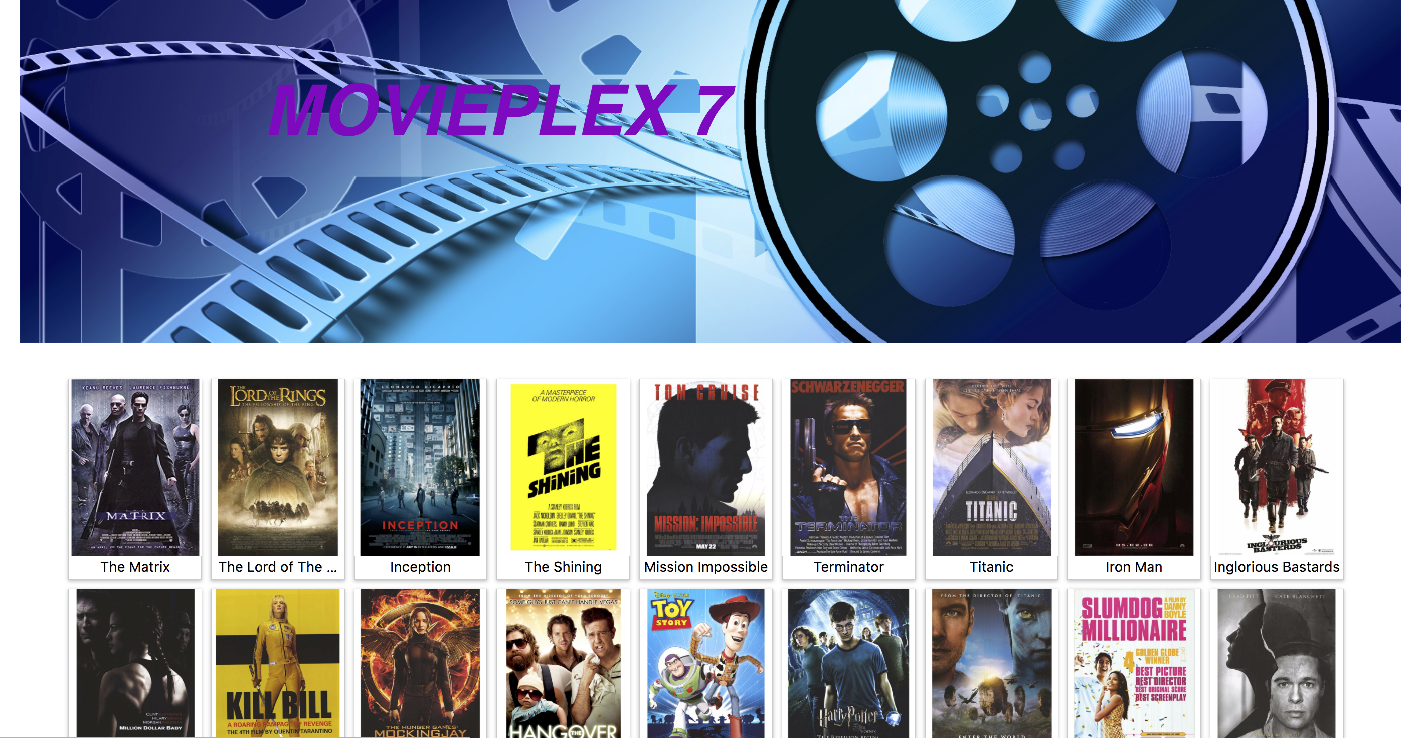 Movieplex7 React Front-end